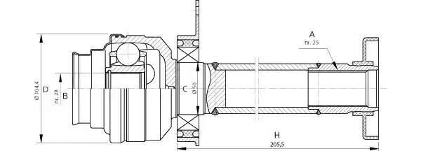 CVJ5707.20 OPEN PARTS