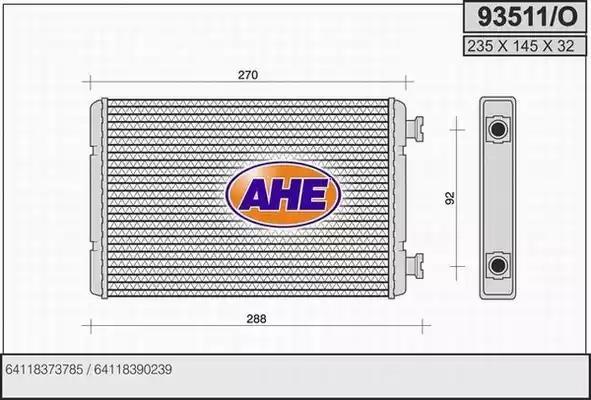 93511/O AHE